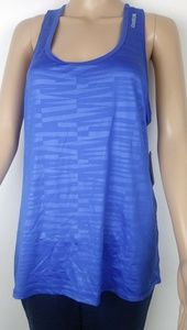NWT Reebox blue work out top size L